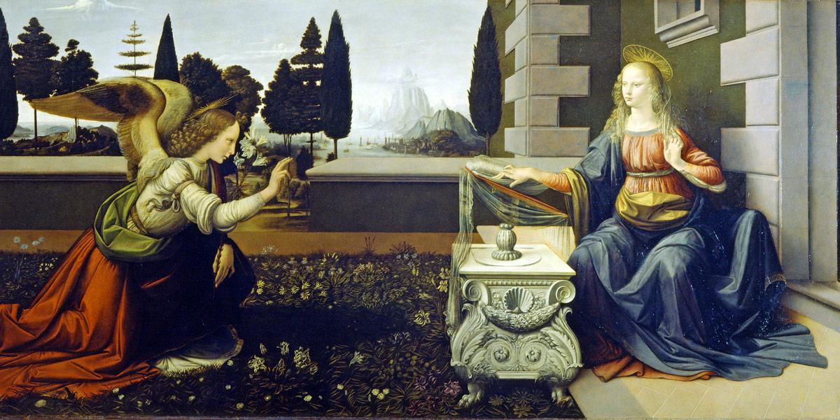 The Annunciation by Leonardo