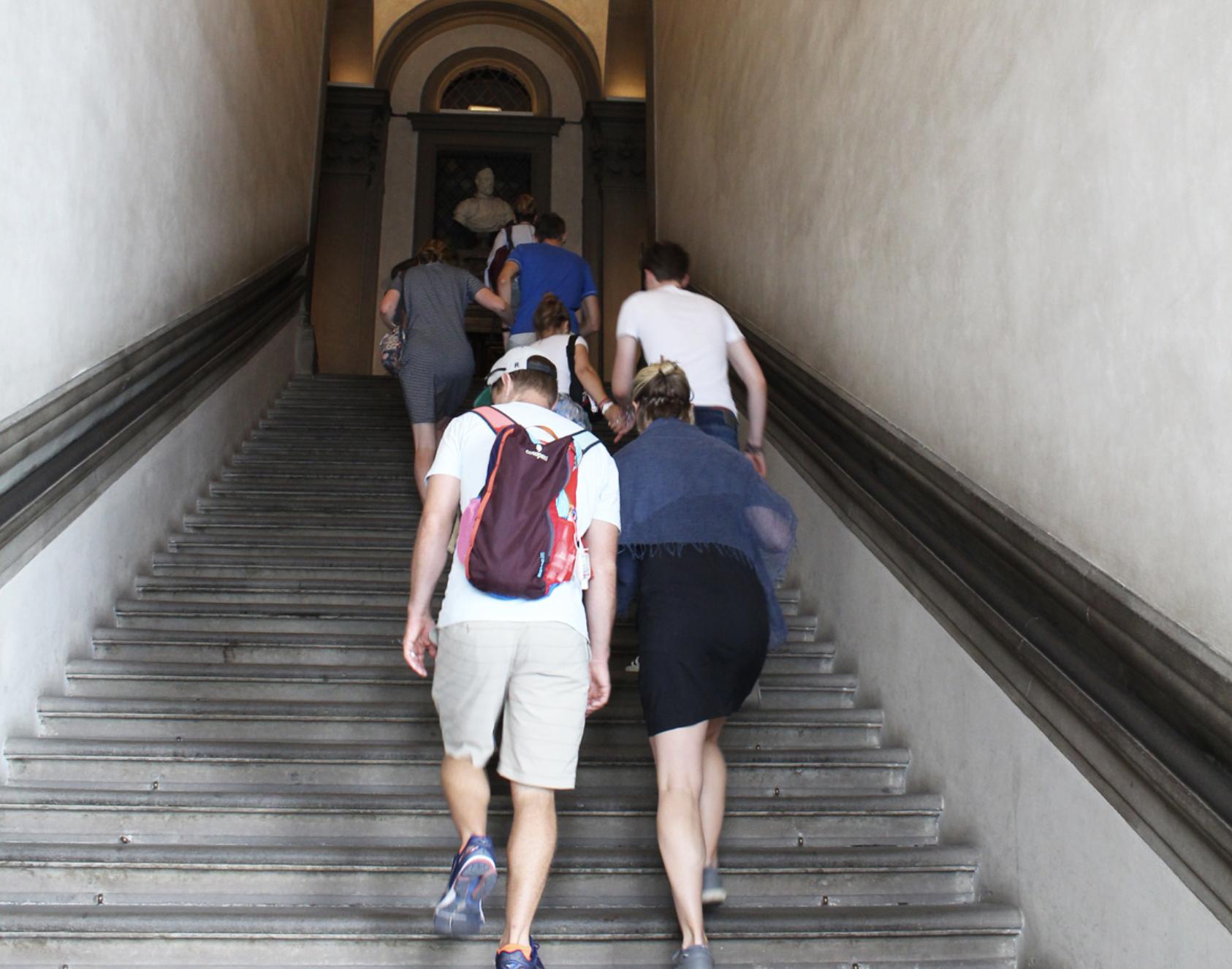 Uffizi Gallery — Entrance Staircase
