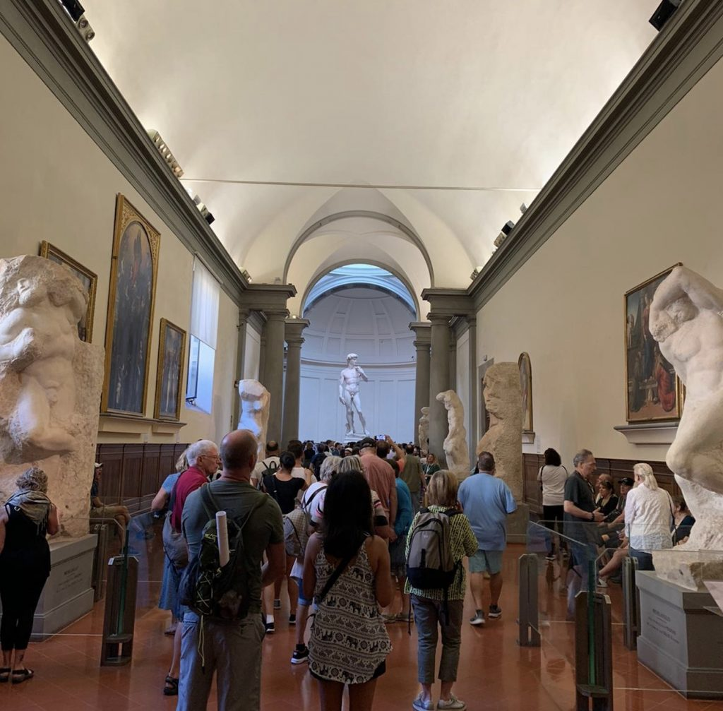 Hall of the Prisoners - Accademia Gallery