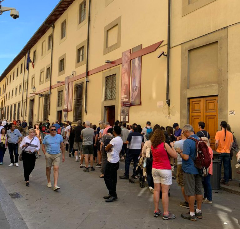 Accademia Gallery in Florence - Street View