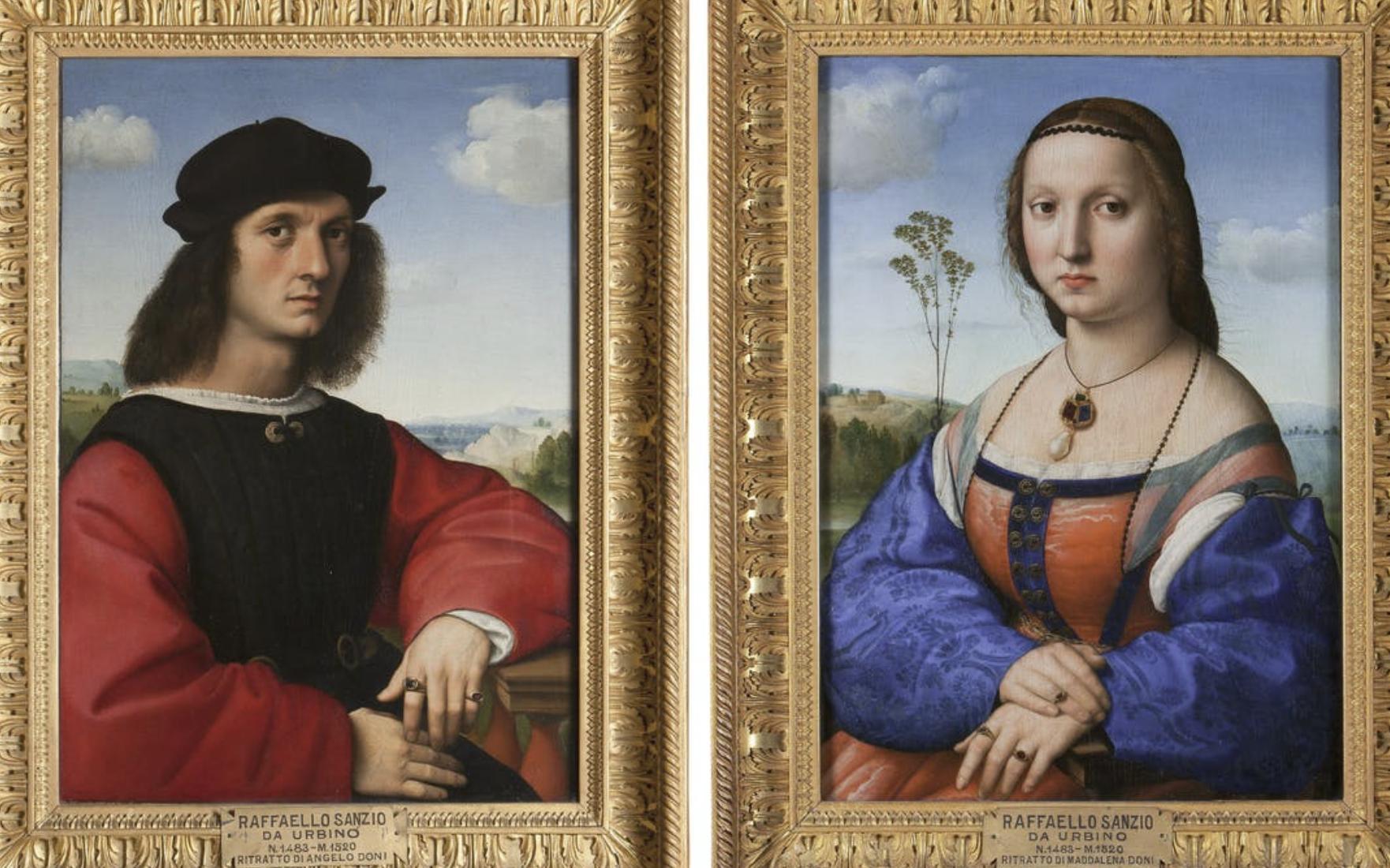 Family Doni's Portraits at Uffizi Gallery